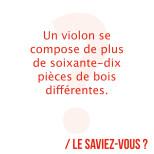 Un violon est composé de plus de 70 pièces de bois individuelles. La plupart des…