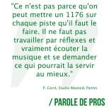Parole de Pros - Perceval Carré @percevalsound, ingénieur du son au @mastoidstudio…