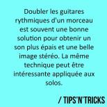 Doubler les guitares rythmiques d'un morceau est une technique très souvent utilisée.…