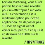 Parfois, lors du Mastering, une légère réverbe peut être très utile pour coller le…