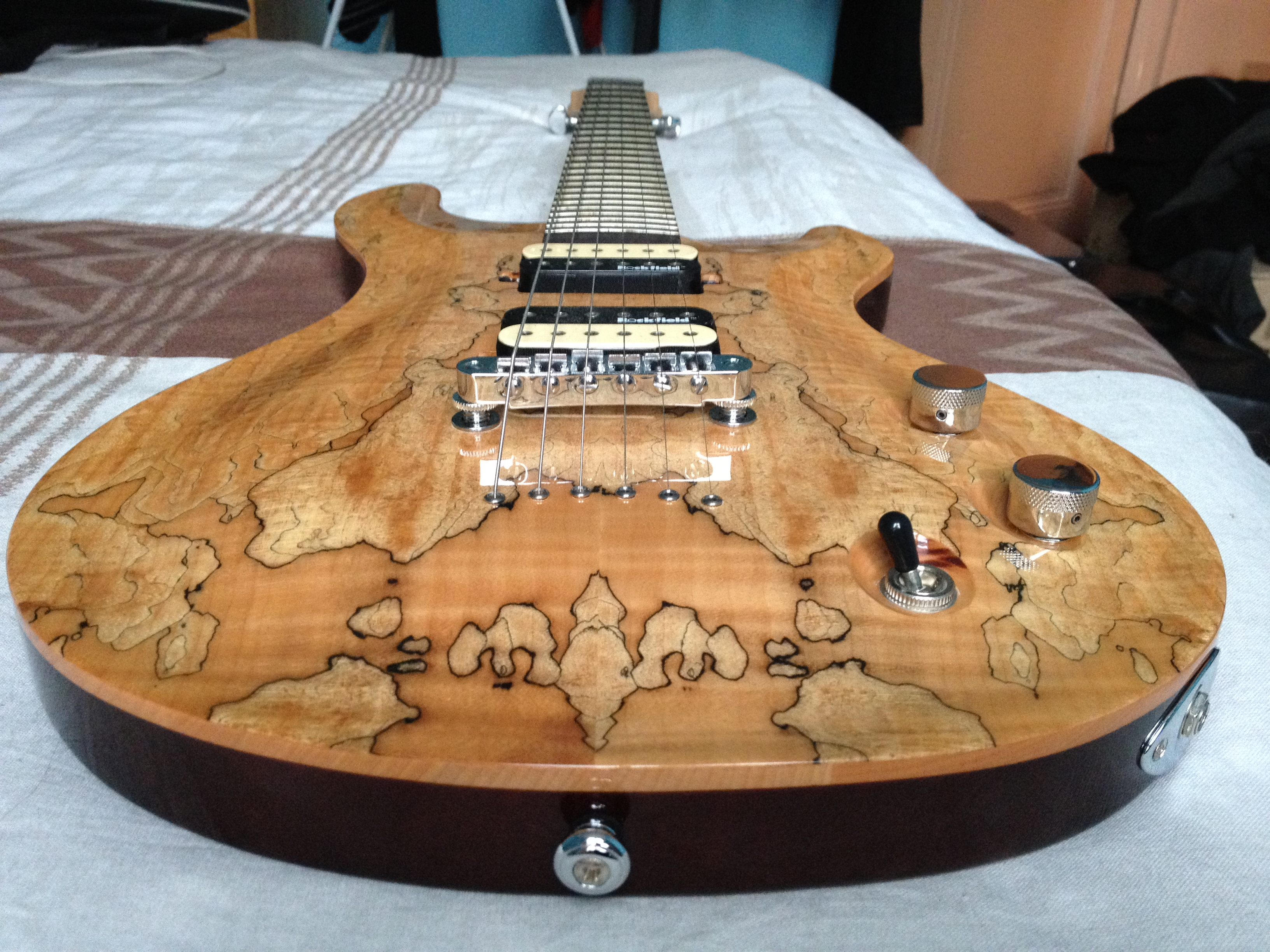 Spalted Maple Guitar Michael Kelly Michael Kelly Guitars