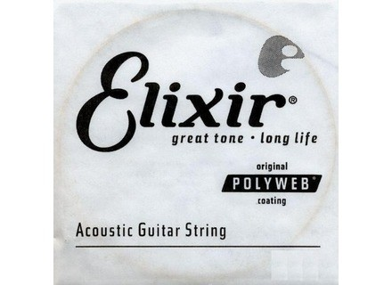 Elixir Strings Nanoweb Coating Phosphore Bronze Acoustic Single String