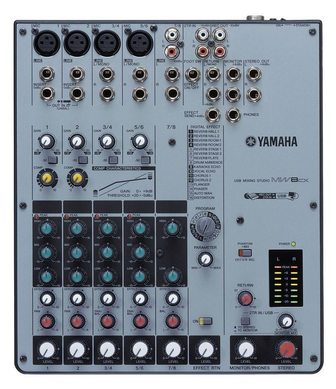 Mw8cx yamaha mw8cx audiofanzine - Table de mixage yamaha usb ...