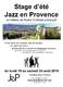 Stage d'été Jazz en Provence
