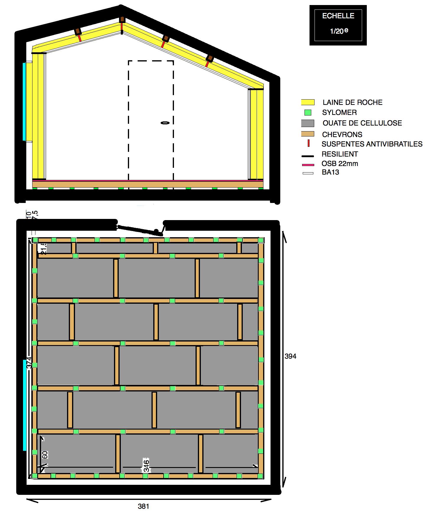 boite dans la boite 15m2 a moins de 2500 forum mobilier accessoires am nagement studio. Black Bedroom Furniture Sets. Home Design Ideas