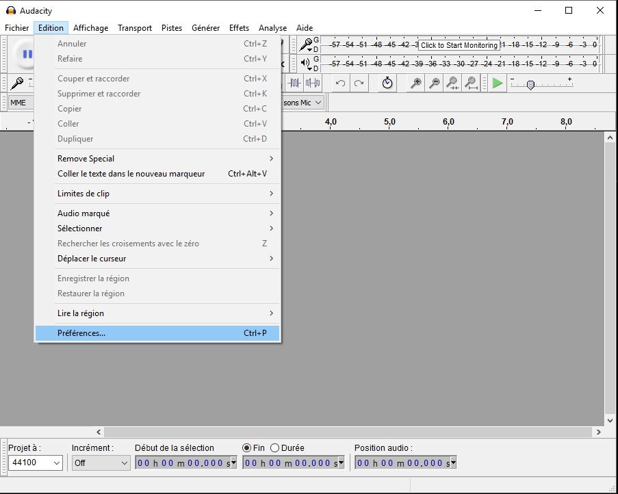 audacity enregistrer carte son Audacity et carte son   Audiofanzine
