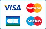 Visa, Mastercard, CB, Maestro