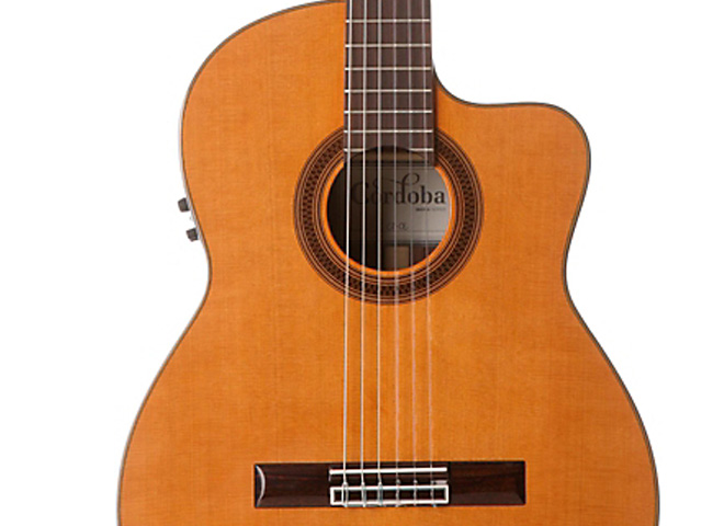 Acoustic-electric nylon string guitars