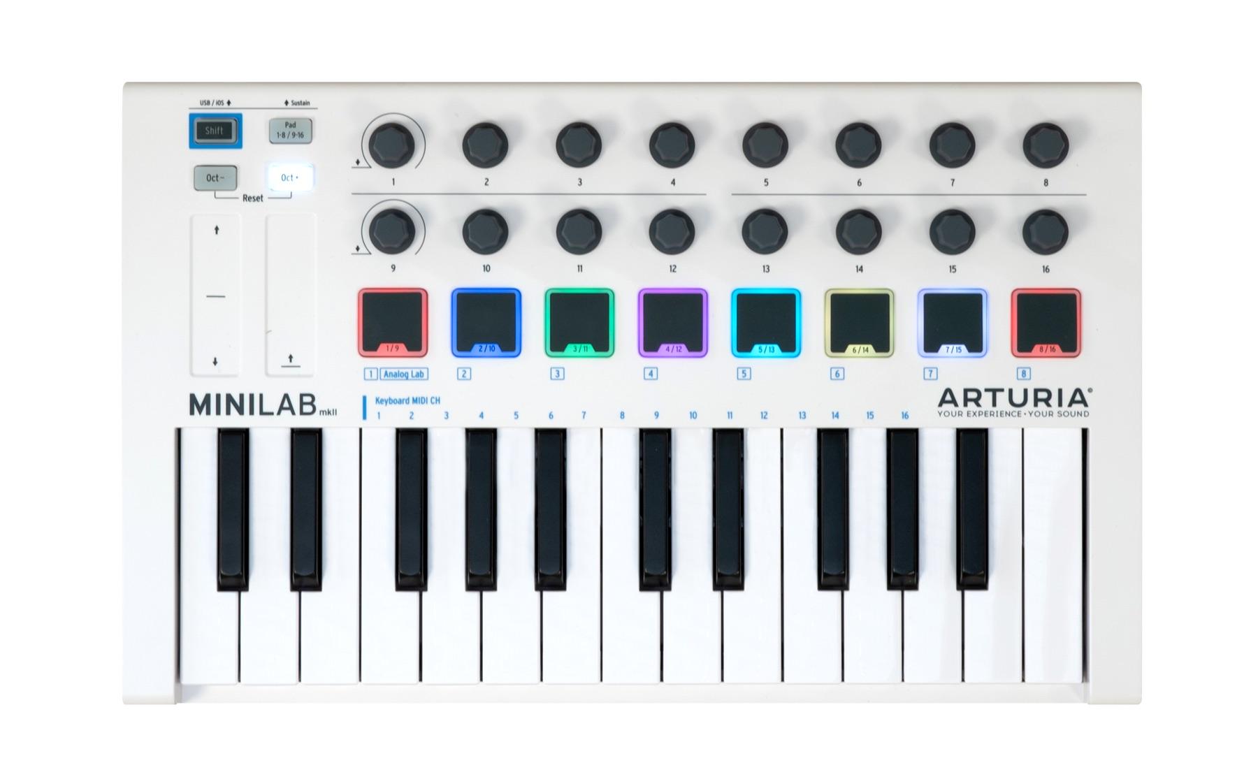 Claviers maîtres MIDI 25 touches
