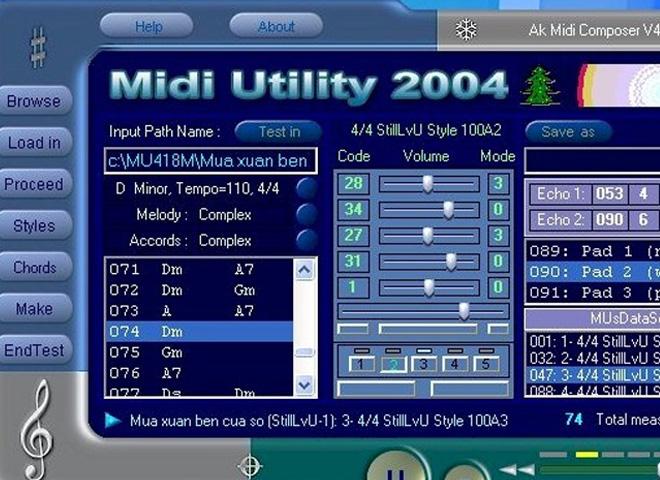 MIDI utility software