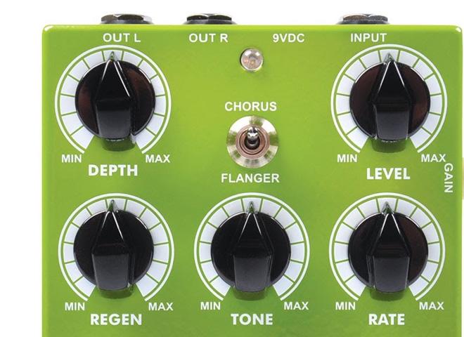 Modulation effects pedals