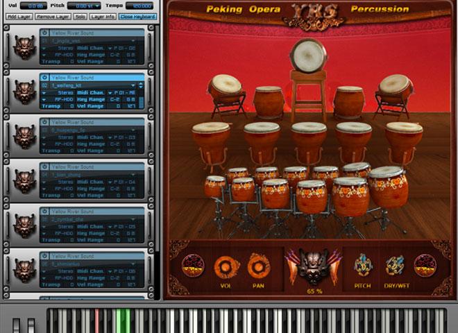 Percussions atonales virtuelles