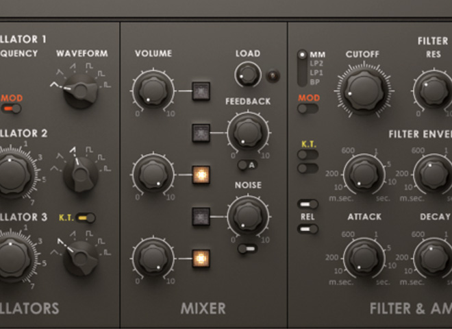 Virtual subtractive synths