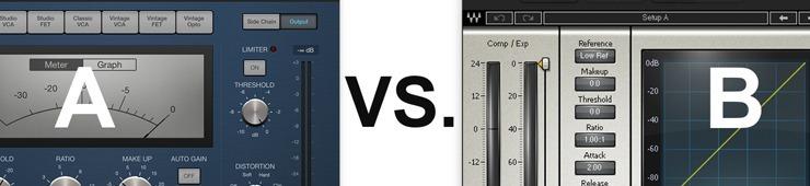 Ein A-B Vergleich ähnlicher Plug-Ins hilft Euch bei Eurer Arbeit die richtige Entscheidung zu treffen