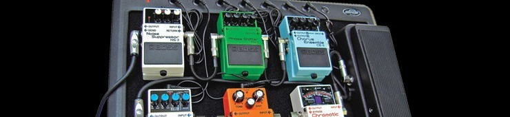 Pedal order, powering, and securing effects to the pedalboard