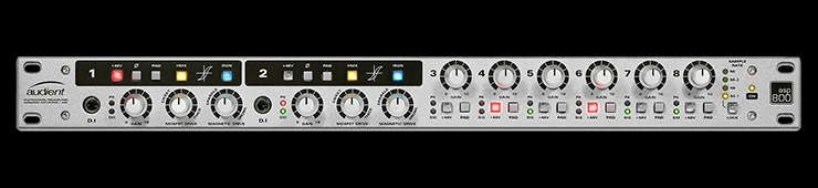 A review of the Audient ASP800 8-channel mic pre and ADC