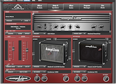 Software amp-and-effects simulator for studio and stage