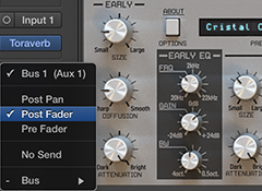 Reverb: Pre- or Post-Fader?
