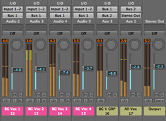 Adjust and Process Groups of Tracks at a Time