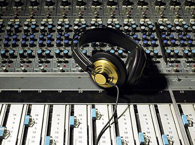 Get a good mix with headphones