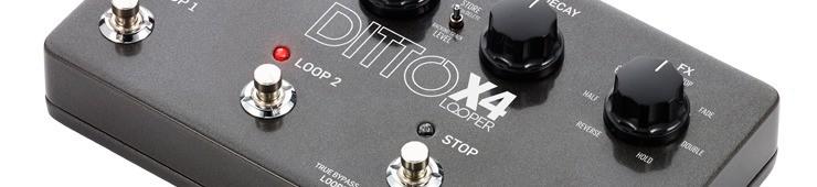 Test de la pédale de looper TC Electronic Ditto X4