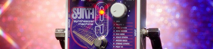 Test de la pédale de simulation de synthétiseurs Electro-HarmonixSynth9