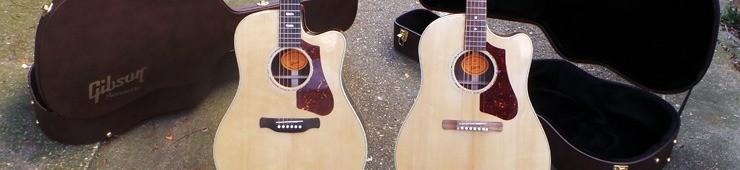 Test des guitares électro-acoustiques Gibson HP 735 R et 415 W