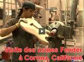 Visite des usines Fender (Corona, Californie)