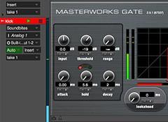 Gonfler un élément percussif avec un Noise Gate
