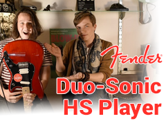 Test de la Fender Duo-Sonic HS Player Crimson Red Transparent