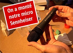Montage d'un microphone Sennheiser e865