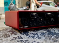 Test de l'interface audio Focusrite Scarlett 2i2 G3