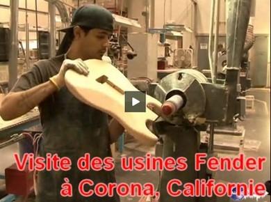 Visite des usines Fender (Corona, Californie)