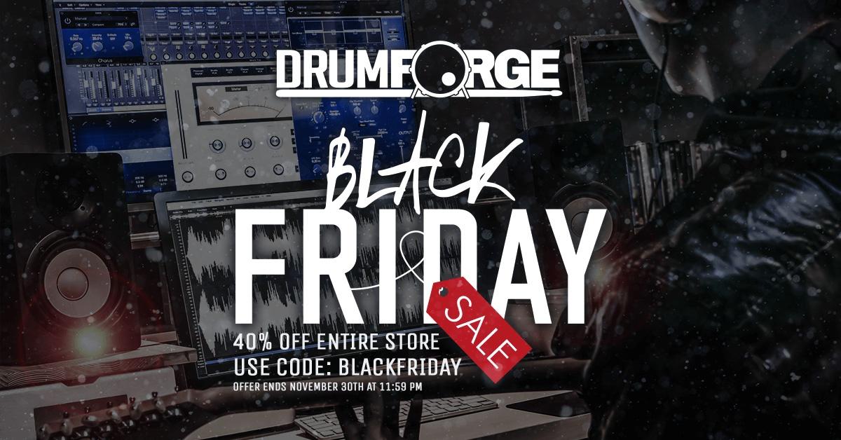 promotion black friday sur les effets et batteries virtuels drumforge audiofanzine. Black Bedroom Furniture Sets. Home Design Ideas