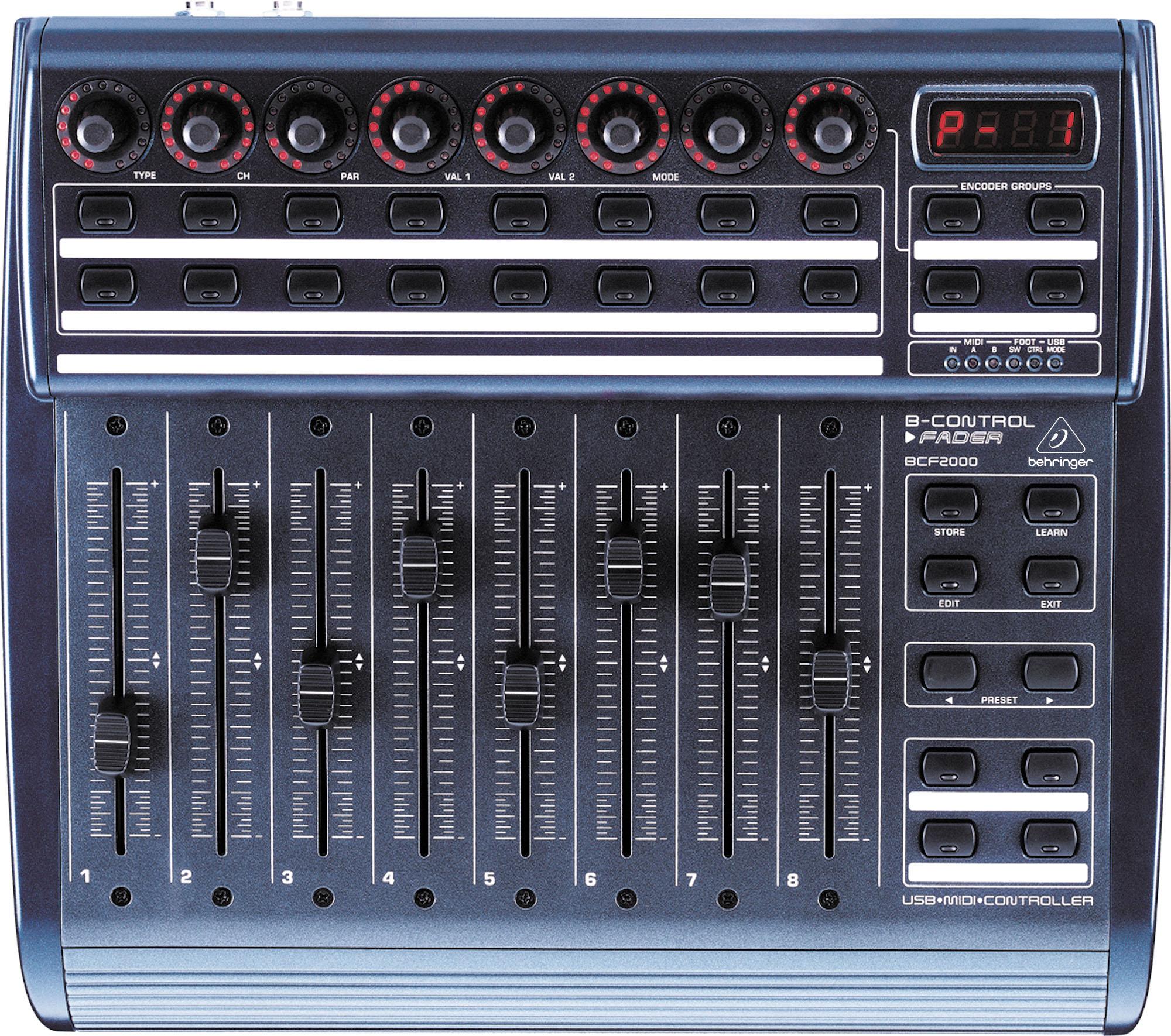b control fader bcf2000 behringer b control fader bcf2000 audiofanzine. Black Bedroom Furniture Sets. Home Design Ideas