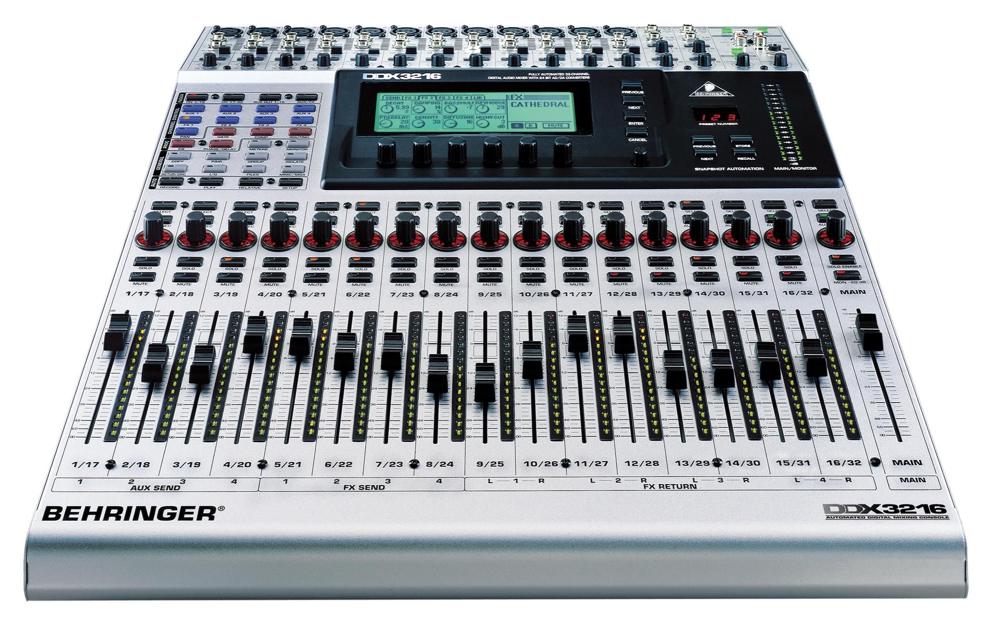 Ddx3216 behringer ddx3216 audiofanzine - Console numerique behringer ...