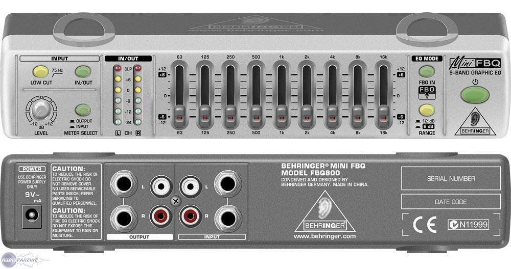 Behringer Minifbq Fbq800 Image 1089306 Audiofanzine