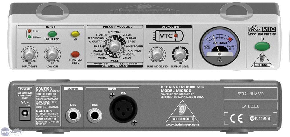 User Reviews Behringer Minimic Mic800 Audiofanzine