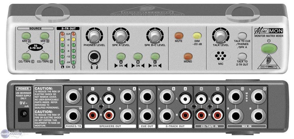User Reviews Behringer Minimon Mon800 Audiofanzine