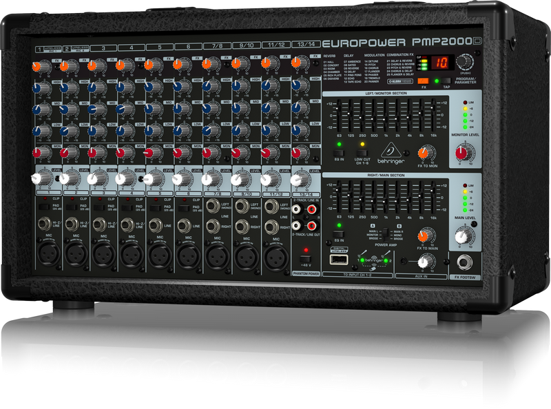 Pmp2000d behringer pmp2000d audiofanzine - Table de mixage amplifiee yamaha ...