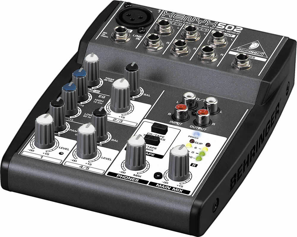 table de mixage xenyx 502 usb