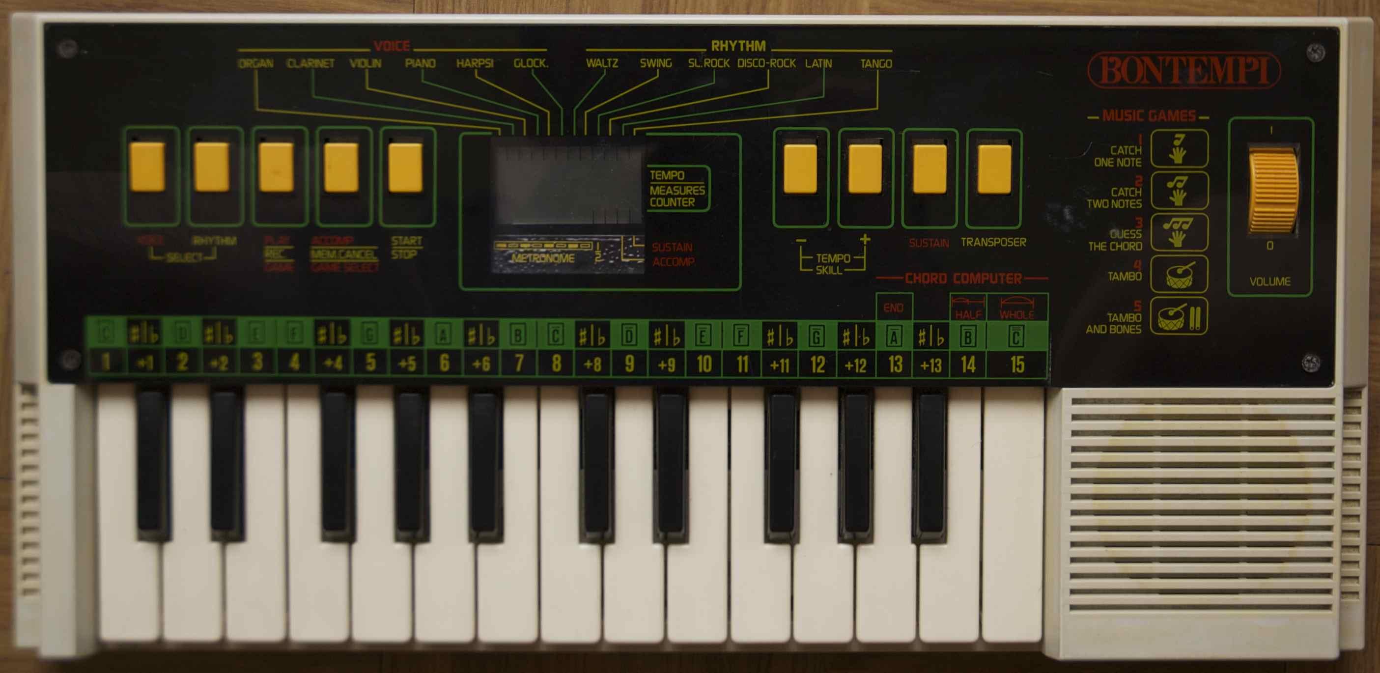 meilleurs instruments electroniques bontempi  audiofanzine - bontempi ht