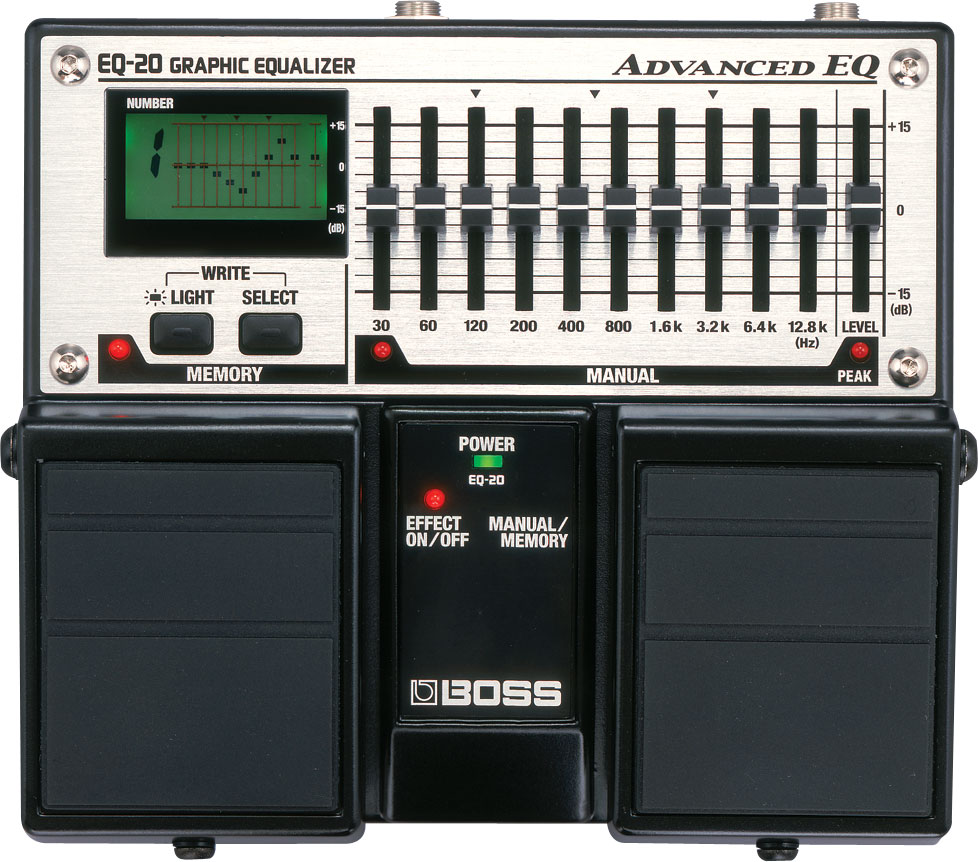 EQ with a memory - Reviews Boss EQ-20 Graphic Equalizer - Audiofanzine