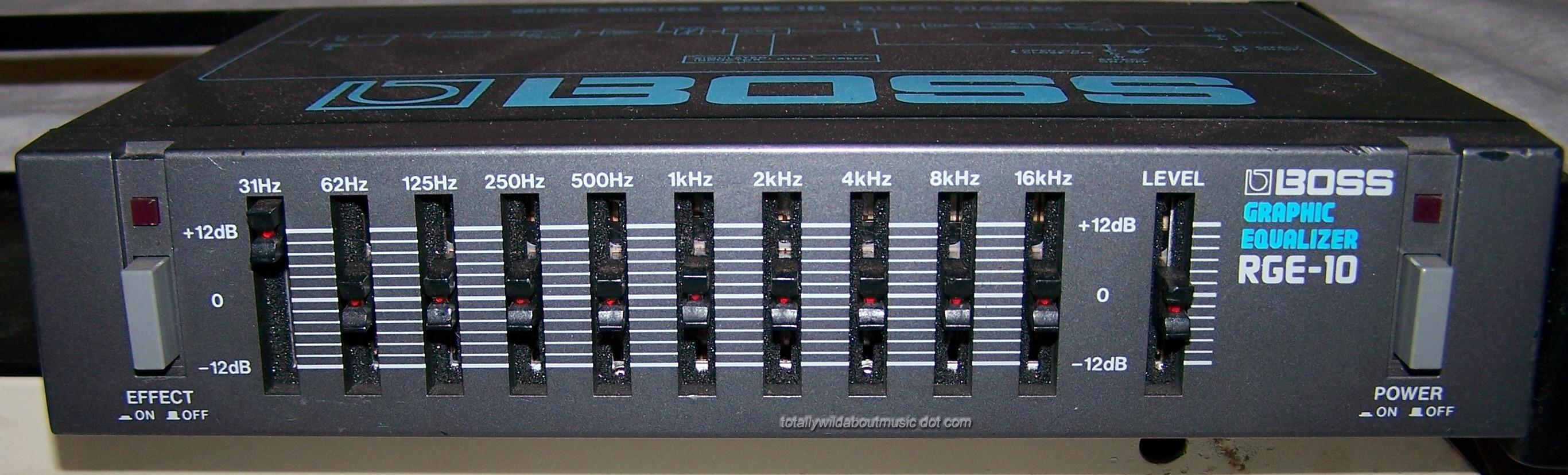 Marty62100s Review Boss Rge 10 Graphic Equalizer Audiofanzine Audio