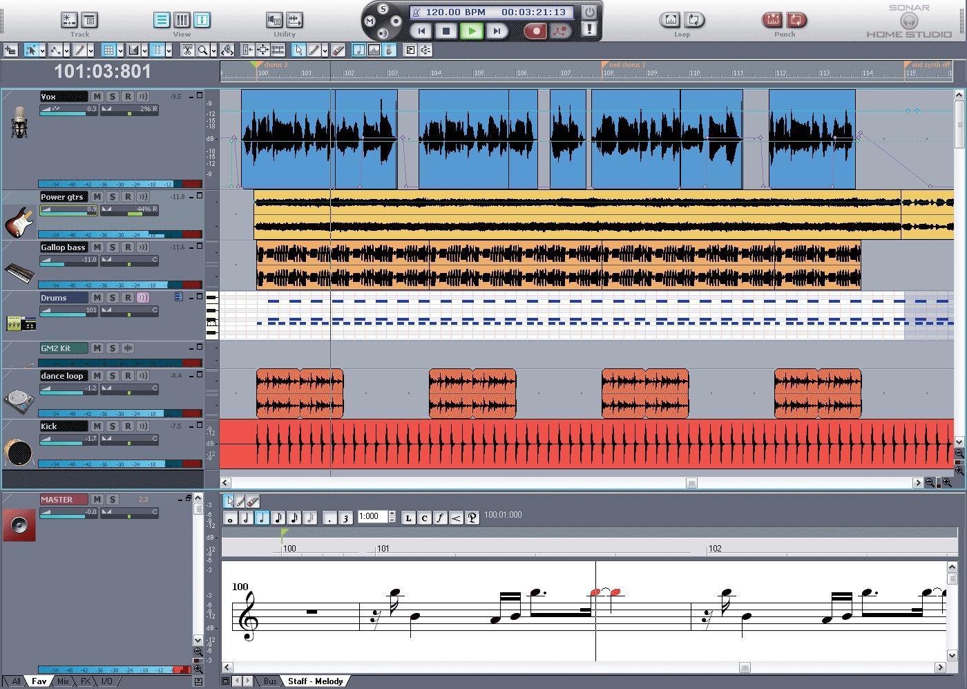 sonar recording studio