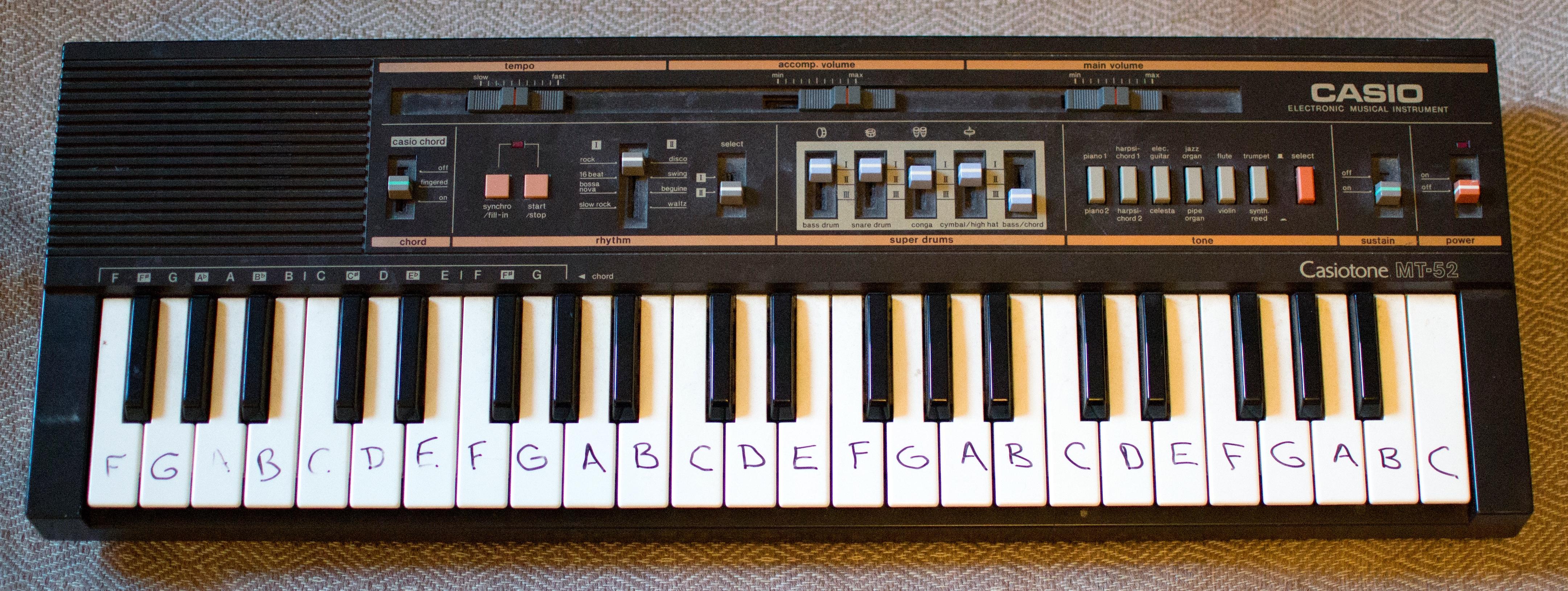 A nice casio MT focused on drum variations - Reviews Casio