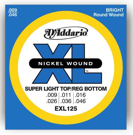 Cordes Pyramid Classic Nickel D-addario-xl-nickel-round-wound-exl125-9-46-super-light-top-regular-bottom-24004