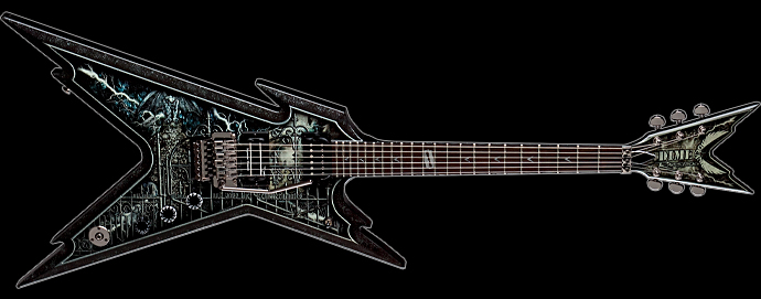 guitar from hell reviews dean guitars dime razorback cemetery gates audiofanzine. Black Bedroom Furniture Sets. Home Design Ideas