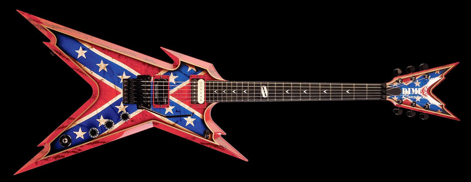audiofanzine fr 39 s review dean guitars usa razorback rebel flag. Black Bedroom Furniture Sets. Home Design Ideas