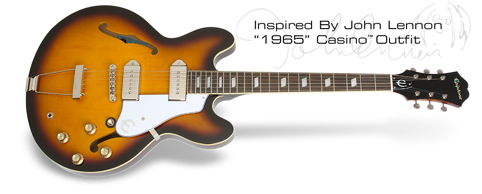 Epiphone inspired by john lennon casino bar with blackjack roulette and craps